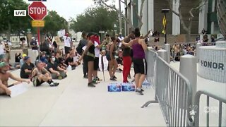 Peaceful protests continue in St Pete in the wake of George Floyd's death