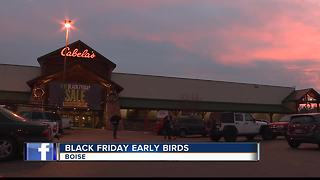 Black Friday shoppers camp out in Boise - Video