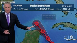 Tropical Storm Marco forms over the northwestern Caribbean