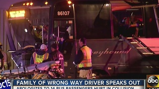 Wrong-way driver slams into Greyhound bus in Goodyear - Video