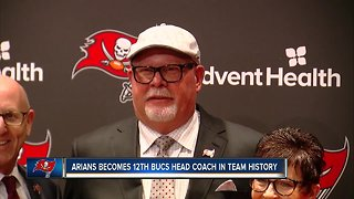 Buccaneers introduce Bruce Arians as new head coach