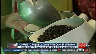 Coffee has a chemical in it that is known to cause cancer, however doctors say there is no worry - Video