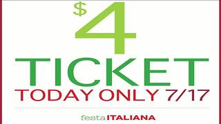 Festa Italiana offering $4 tickets on Monday only - Video
