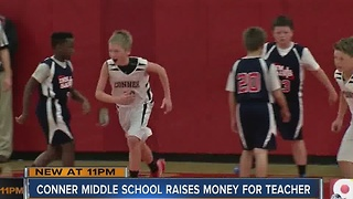 Conner Middle School raises money for Valerie McNamara