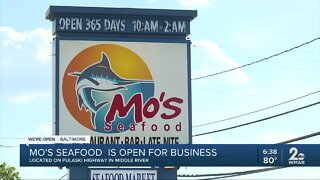 Mo's Seafood is open for business
