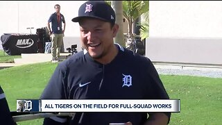 Miguel Cabrera speaks during first Tigers full-squad workouts