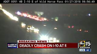 I-10 eastbound closed at Riggs Road due to deadly pedestrian crash - Video