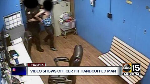 Store video shows Phoenix officer slap handcuffed man accused of shoplifting