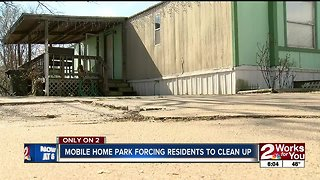 Mobile home park forcing residents to clean up