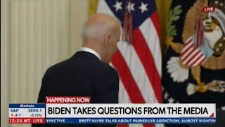 WATCH: Biden Wanders Away from Podium During Press Conference