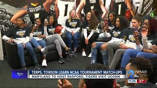 Terps, Towson learn NCAA Tournament matchups