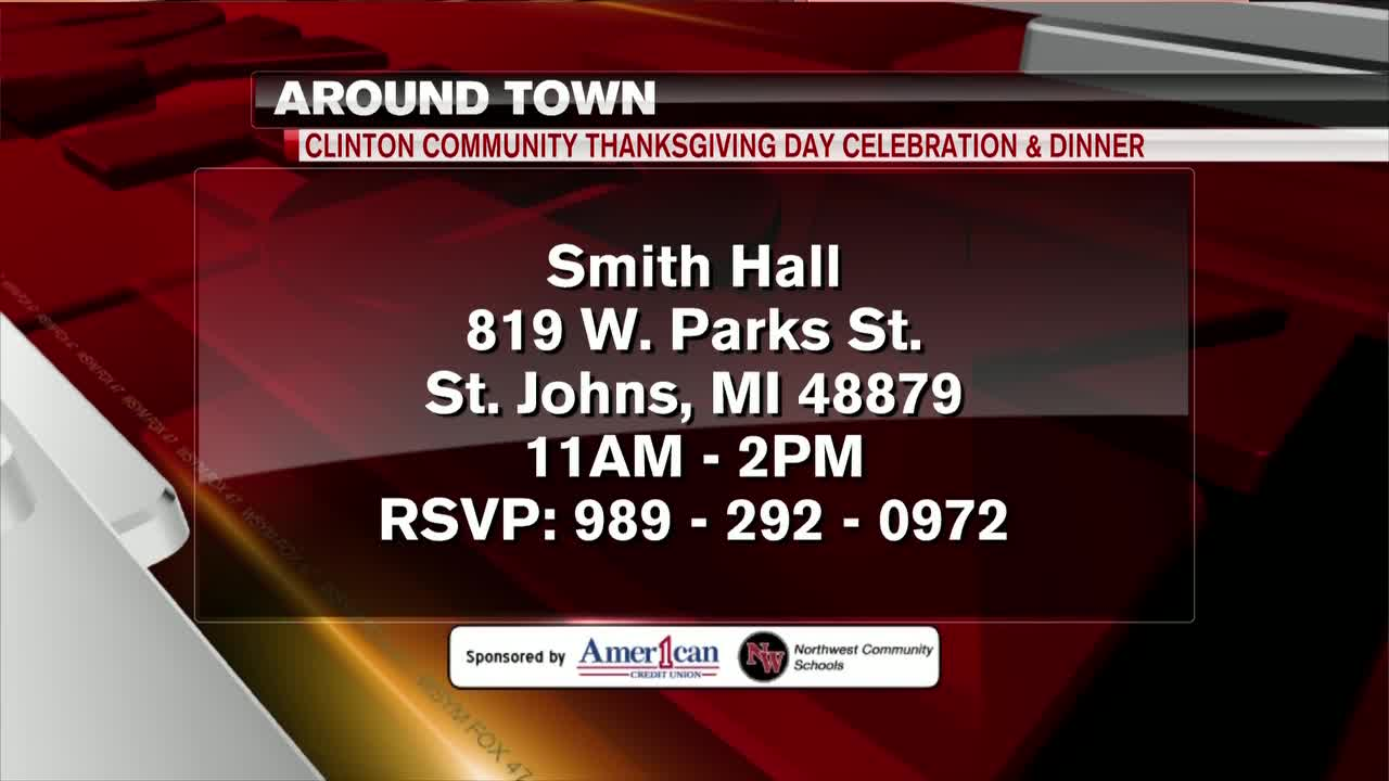 Around Town - Clinton Community Thanksgiving Day Celebration and Dinner - 11/25/19