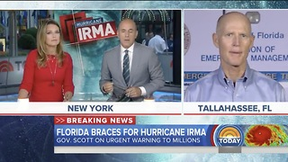 FL Gov Rick Scott Wants Floridians To Evacuate! Storm Is Unbelievable - Video
