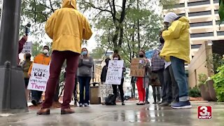 Protesters Interrupt Groundbreaking of Downtown Detention Center