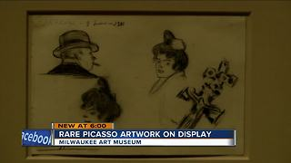 Rare picasso Artwork on display at Milwaukee Art Museum - Video