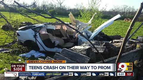 Monroe High School teens' ride to prom ends in crash, hospitalizations