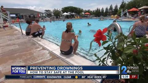 Ways to stay safe at the pool and prevent drowings