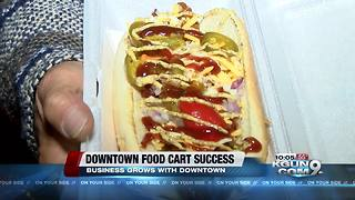 A slice of the downtown late night food scene - Video