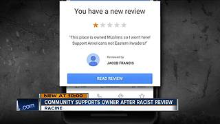Racist review rallies Racine community to support a local restaurant - Video