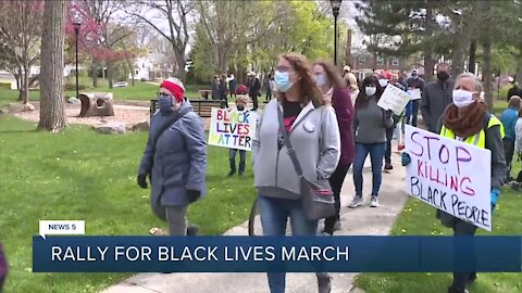 Peaceful march for Black lives held Saturday afternoon in Shaker Heights