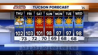 Chief Meteorologist Erin Christiansen's KGUN 9 Forecast Thursday, June 7, 2017