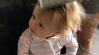Baby Loves Having Her Hair Blow-dried - Video