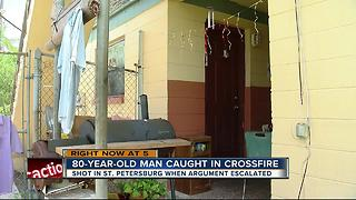 80-year-old man caught in crossfire in St. Pete shooting - Video