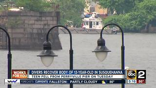 Divers recover 13-year-old from Susquehanna - Video