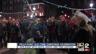 The 14th annual Olde Tyme Christmas celebration in historic Fells Point - Video