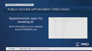 Publix vaccine appointments open today