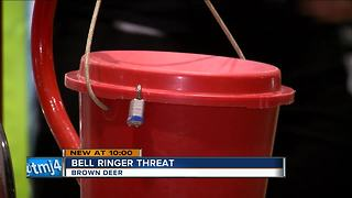 Ex-bell ringer threatens Salvation Army employees at knife-point - Video