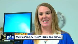 Scalp cooling cap saves hair, during chemo - Video