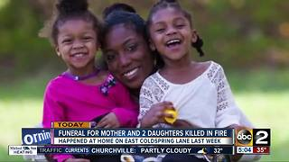 Funeral held for mother, two daughters that died in Baltimore house fire