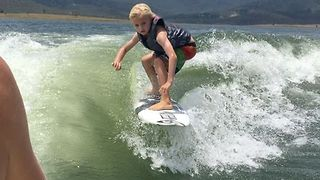 Young Boy Has Impressive Wakesurfing Skills - Video
