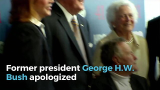 George H.W. Bush Reportedly Apologizes After Sexual Assault Claim - Video