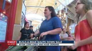 Build-a-bear shuts down sale - Video