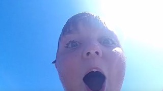 Boy Flashes Priceless Look When He Finds GoPro Lost in the Ocean - Video