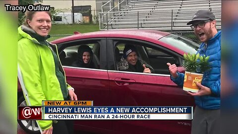 Harvey Lewis runs for 24 hours