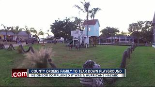 Parents may have to remove backyard playground after neighbor's complaint - Video