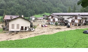 Flash Flood Sweeps Through Aosta Valley Village - Video