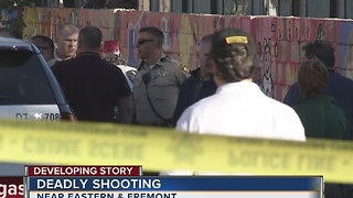 Man killed in shooting near downtown Las Vegas - Video