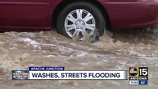 Monday morning rain brings flooding, damage to the Valley