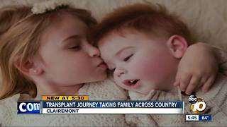 Transplant journey takes family across country - Video