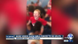 Video shows Denver cheerleaders forced into splits; East High School staff on administrative leave - Video