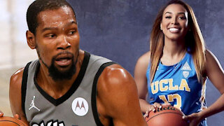 Kevin Durant Caught Secretly Shooting His Shot At LiAngelo Ball's Hot Ex Girlfriend Jaden Owens