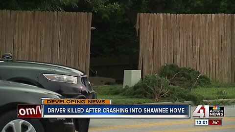 Driver killed after crashing into Shawnee home