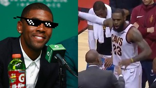 Kyrie Irving TROLLS LeBron James Over Bench Temper Tantrum - Video