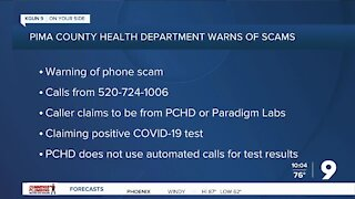Pima County Health Department warns of potential phone scams