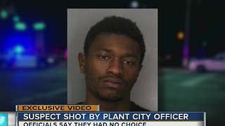 Suspect shot by Plant City officers - Video