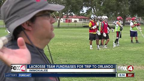 Immokalee Lacrosse Team fundraises for trip to Orlando
